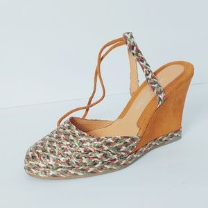 Via Spiga V-Gore Multicolor Espadrille Wedge